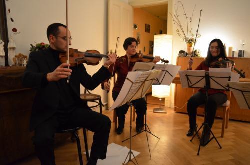Der Beginn des Salons mit Quintett