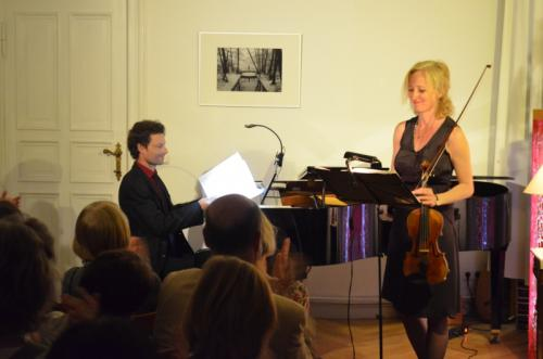 Ulrike Dinter, Geige und Ludger Ferreiro, Klavier