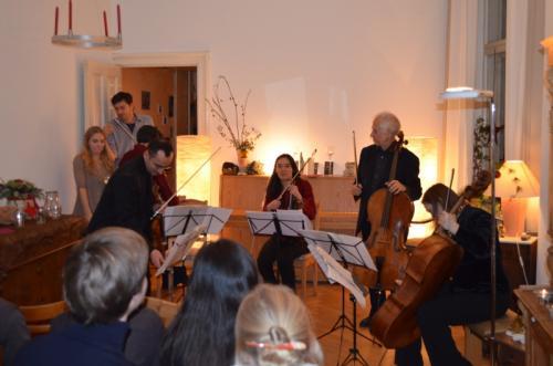 Der erste Salonabend Quintett mit Wolfram Böttcher, Cello