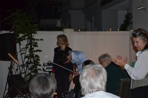 Ulrike Draesner, Lesung im Garten